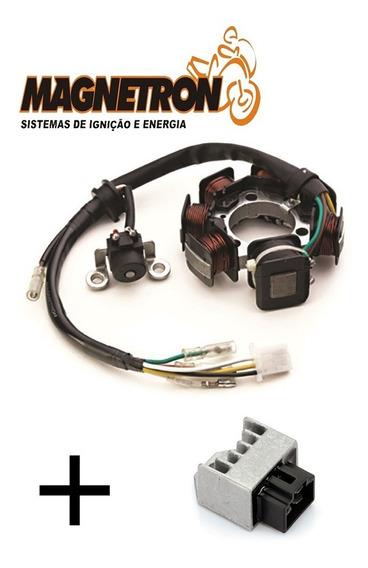 Estator De Bobinas Dafra Zig 100 + Reg Retificador Magnetron