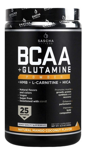 Bcaa Sascha Fitness - Todos Los Sabores Envio Gratis