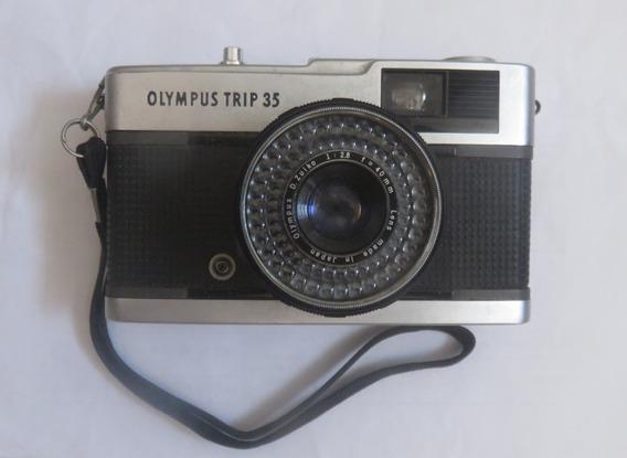 Câmera Olympus Trip 35 Com Flash + Alça + Case Proteção