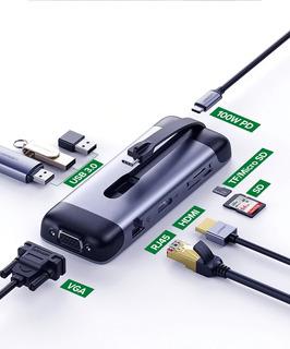Hub Usb-c 2 Pantallas Hdmi Y Vga Ethernet Sd Ugreen Macbook