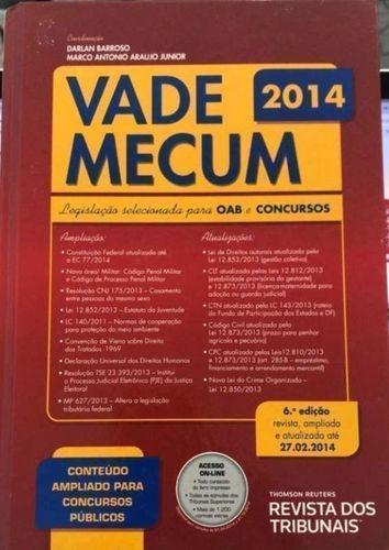 Livro Vade Mecum Oab E Concursos 2014 Darlan Barroso