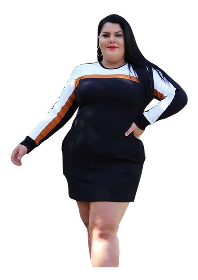 Vestido Roupas Femininas Plus Size Tamanhos Grandes P A Xg