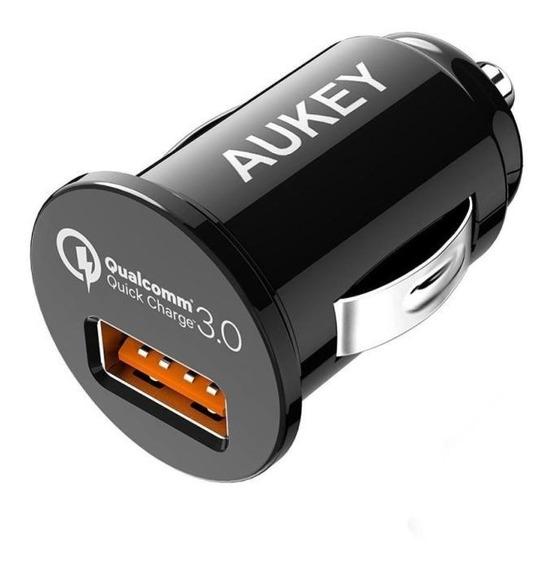 Cargador Para Automóvil Cc-t13 Quick Charge 3.0 Aukey