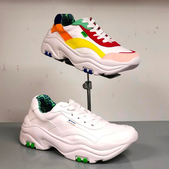 Tênis Farm Branco Colorido / Branco Chunky Sneaker - Berti M