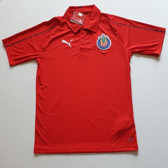 Playera Polo De Chivas Original Nueva 753690 02 A Meses