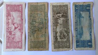 Nota Antigas 100 Cruzeiros, 10, 05 E 01 Cruzeiros