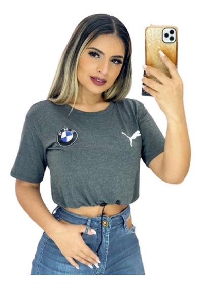 Camiseta Cropped Puma Com Ajustador Mega Promoção