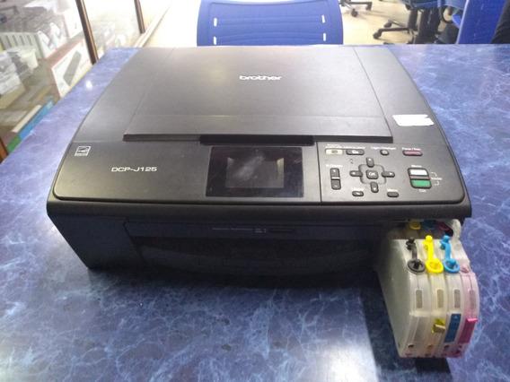 Impressora Brother Dcp J125 Com Bulk Usada Ref 093