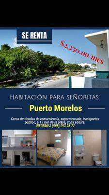 Habitaciones Para Señoritas En Renta Puerto Morelos