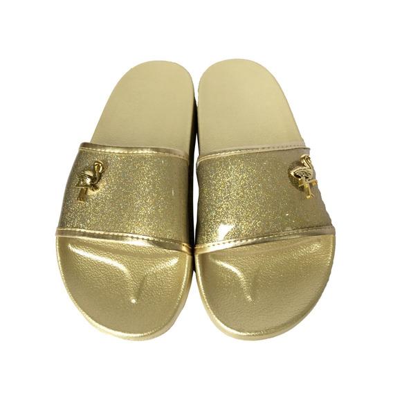 Sandalia Chinelo Slider Dourada 28 A 33 Pimpolho 40016c