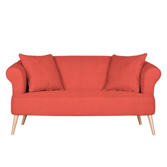 Loveseat Lilú Estilo Moderno Color Rojo Anaranjado
