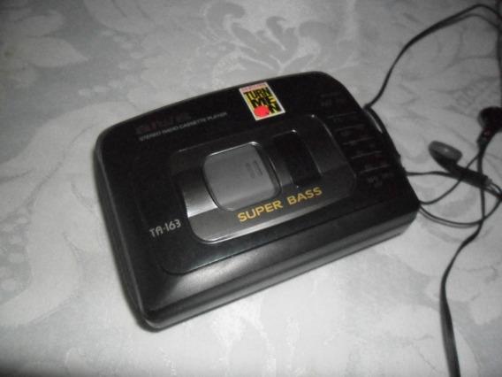 Walkman - Aiwa - Ta-163 - Super Bass - Funcionando - Cassete