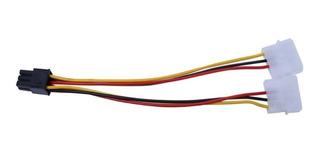 Cable Power Pci-e 6 Pines A 2 Molex (para Placa De Video)