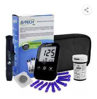 Medidor De Glicose G-teck + 100 Lancetas + 100 Tiras Reagent