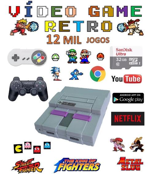 Video Game Retro Smart 32gb Com 2 Controles Jogos Antigos