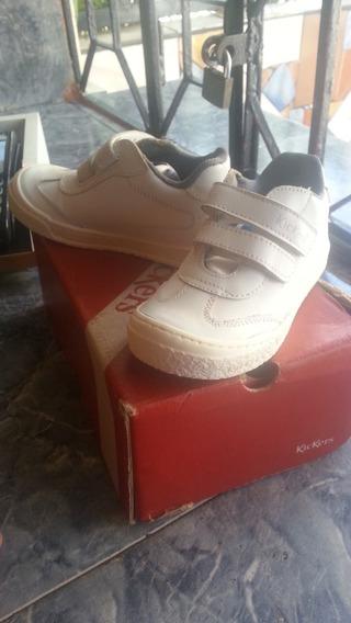 Zapatos Kickers Deportivos Blancos Nuevos En Su Caja