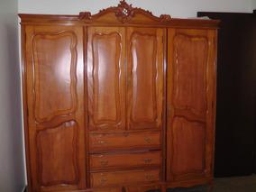 Armario Guarda Roupa Dormitório Antigo Provencal Restaurado
