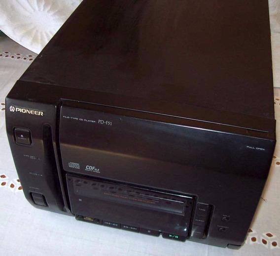 Toca Cd Cd Player Pioneer 50+1 Cds Pd-f51 Com Defeito (rr)