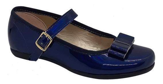 Zapato Guillermina Bautismo/comunión/fiesta - Nena Azul