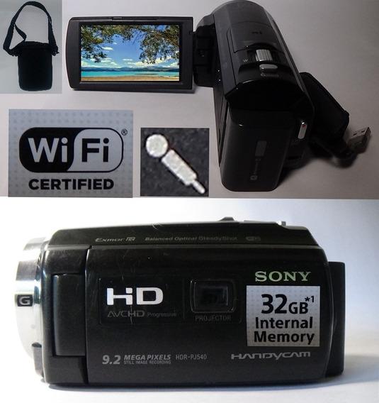 Filmadora Sony Hdr-pj540 Projetor Entrada Microfone Wi-fi 32giga