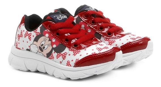 Oferta Black - Ténis Infantil Vermelho - Minnie Mouse - Personagem Disney - Meninas - Ref.011