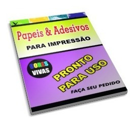 Adesivos 100 Vinil Branco Impressora Laser A4 - Prova D Agua