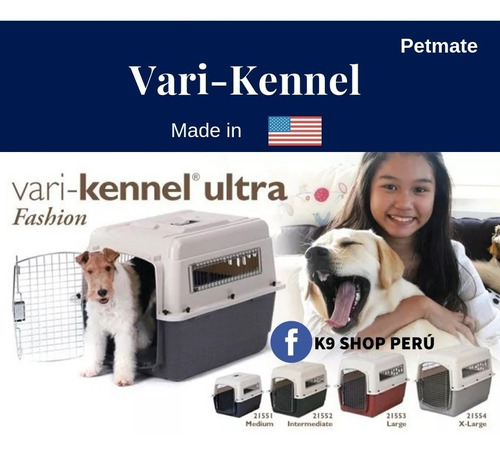 Vari-kennel Ultra Fashion Large By Petmate- Estados Unidos