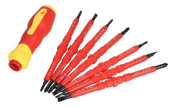 Kit De Destornilladores Con Aislamiento Para Electricista 7