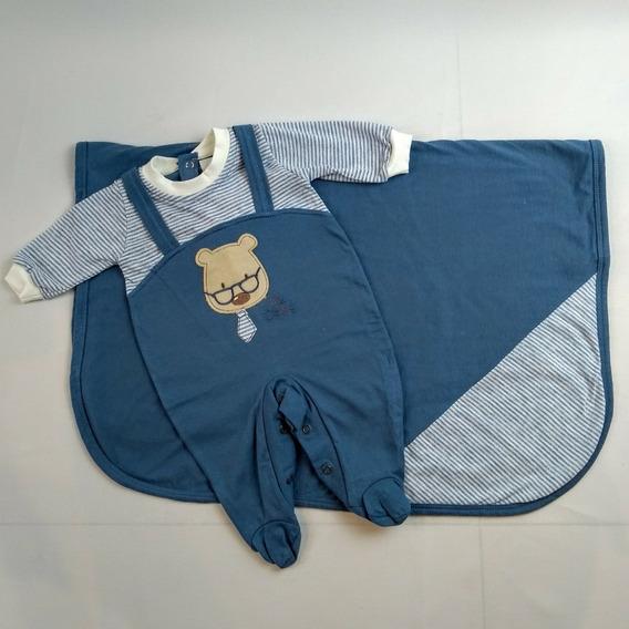 Saida De Maternidade Bebe Bordado Dr Urso