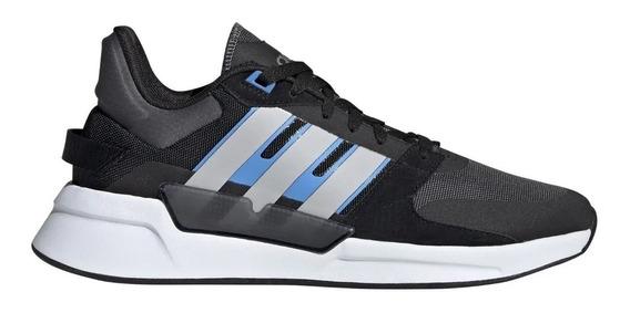 Zapatillas adidas Run 90s Hombre Negro Azul Oficial