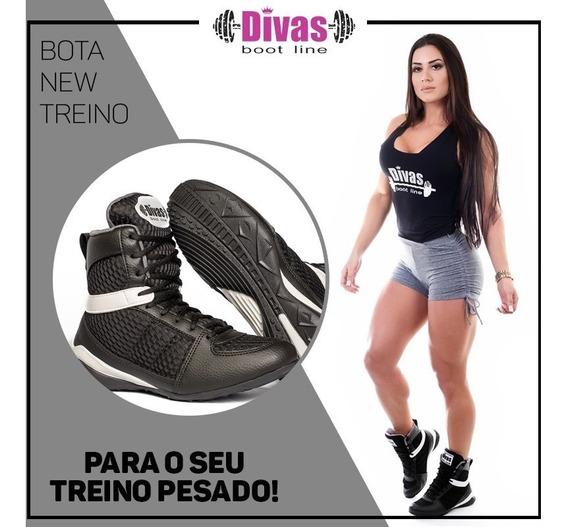 Kit Divas Bota New Treino Botinha + Regata Fitness Academia