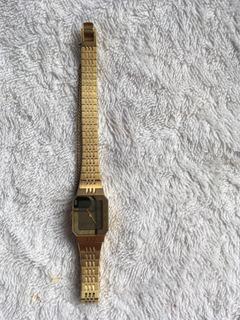 Reloj Seiko De Dama En Baño De Oro.