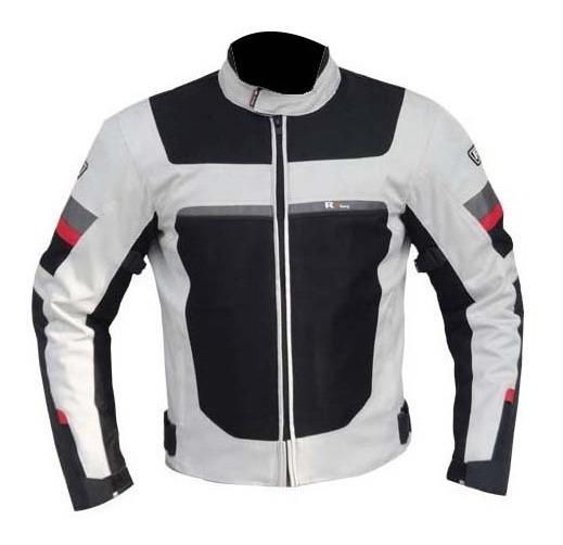 Chamarra De Moto R7 Con Protecciones Blanco Rider One
