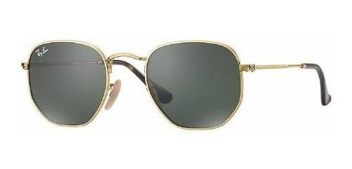 Oculos Masculino Dourado Com Verde Enviamos Hoje