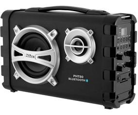 Caixa De Som Philco 80w Bateria Usb Fm Bluetooth Pht80