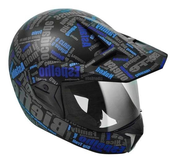 Capacete Bieffe 3sport Mirror Motocross Cross Fechado 3 Em 1