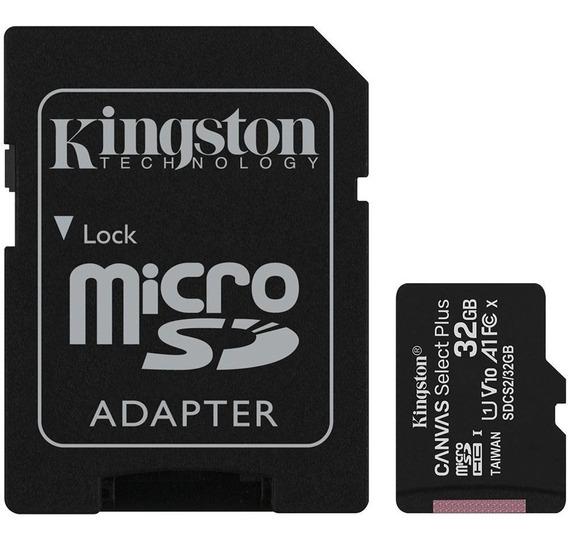 Cartão De Memória Kingston Canvas Select Plus Microsd 32gb