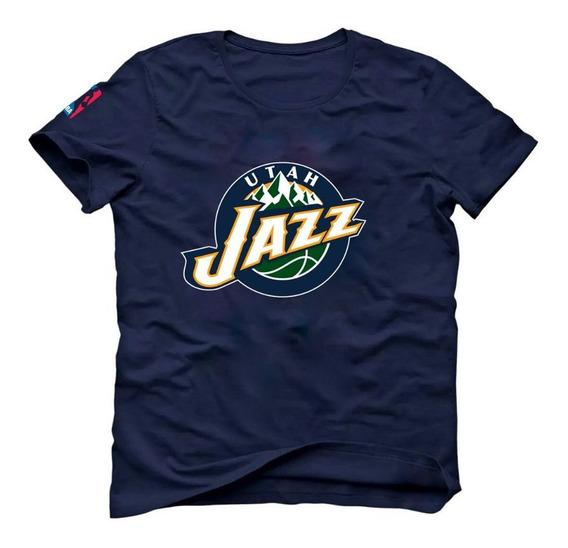 Camiseta Basquete Utah Jazz Donovan Mitchell Rudy Gobert Az