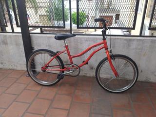 Bicicleta Paseo Roja Rodado 20 Lista Para Usar Nena