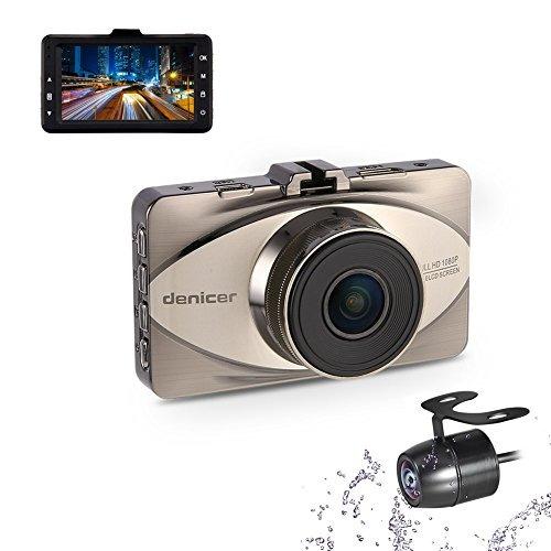 Imagen 1 de 6 de Denicer Dash Cam Parte Delantera Y Trasera Sony Sensor Full