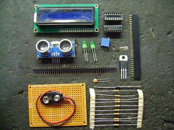 Kit Pic 16f628a+ Projeto Trena Digital Sensor Ultra Sonico