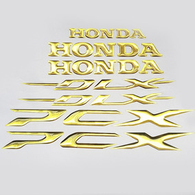 Adesivo Faixa Relevo Sobrepor Dourado Moto Honda Pcx 150 Dlx