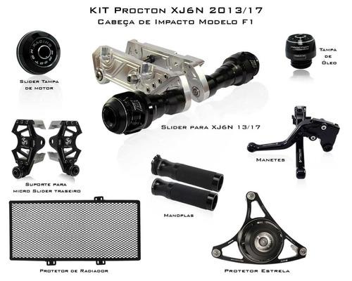 Kit De Slider F1 Procton Racing Yamaha Xj6n / Xj6 N / 8 Peça
