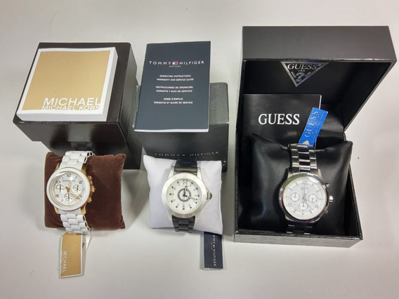 Combo Relógios Originais Michael Kors/ Tommy Hilfiger/ Guess