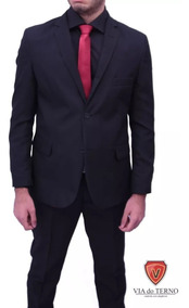 Terno Slim Oxford Com Gravata Paletó + Calça