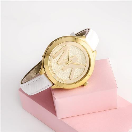 Relógio Michael Kors Feminino Slim Runway Branco Mk2389/2bn