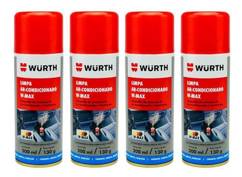 Imagem 1 de 1 de Kit 4 Higienizador Limpa Ar Condicionado Wurth W-max Lavanda
