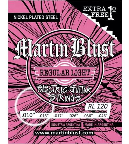 Martin Blust Rl120 Encordado .010 Para Guitarra Eléctrica