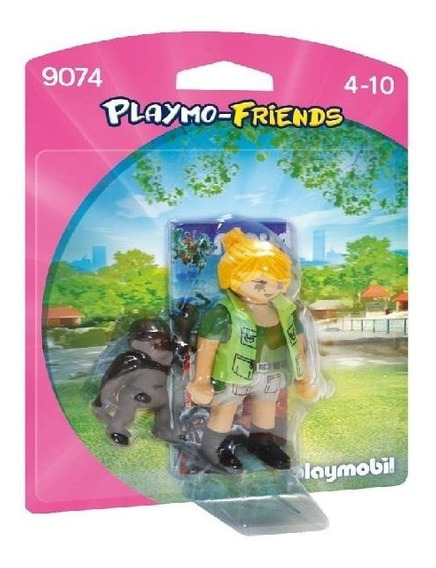 Playmobil 9074 Cuidadora Con Bebe Gorila