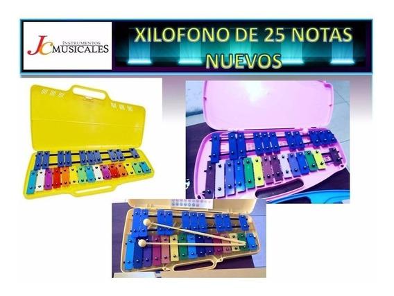 Xilofono Glockenspiel 25 Notas Amarillo Afinado